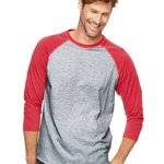 Vintage Fine Jersey Three-Quarter Sleeve Baseball T-Shirt