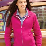 Ladies' Sueded Fleece Full-Zip Sweatshirt
